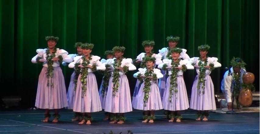 Traje hawaiano nina Kaikamahine - Kahiko