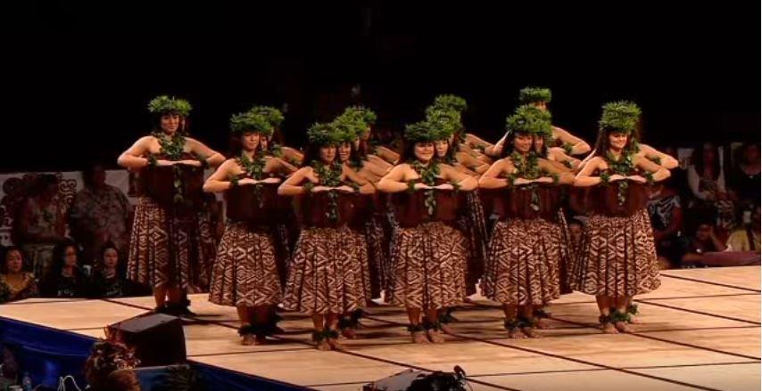 Traje tipico hawaiano de mujer Wahine - Kahiko