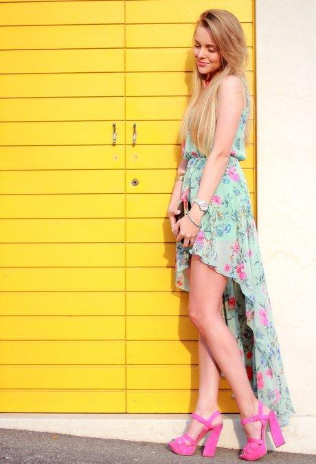 zapatos color flores