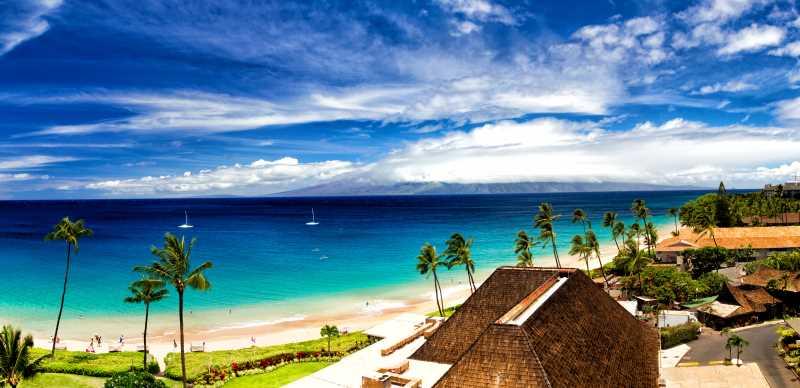 playa kaanapali en maui panoramica