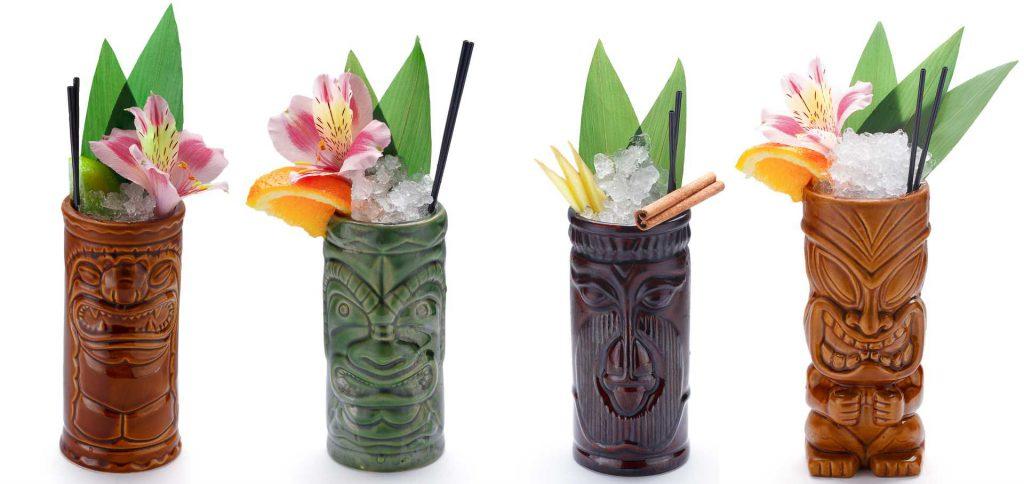 vasos tiki hawaianos